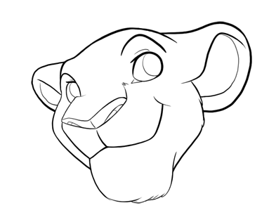 383x313 Free Lioness Head Lines By Phantassel