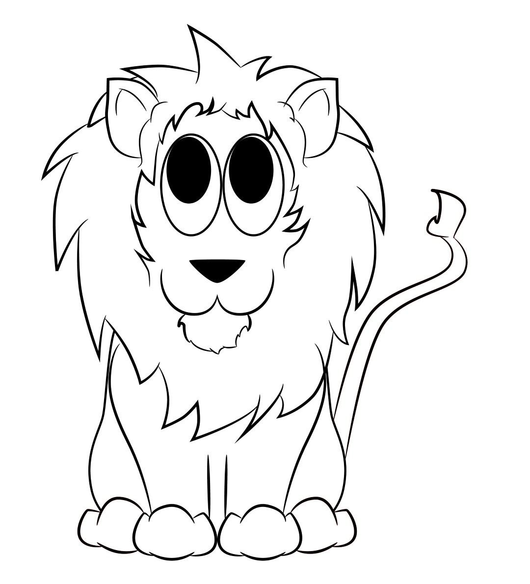 1080x1190 Pictures Drawings Of Cartoon Lions,