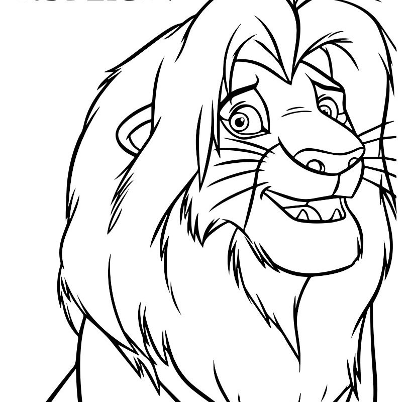 Lions Drawing For Kids