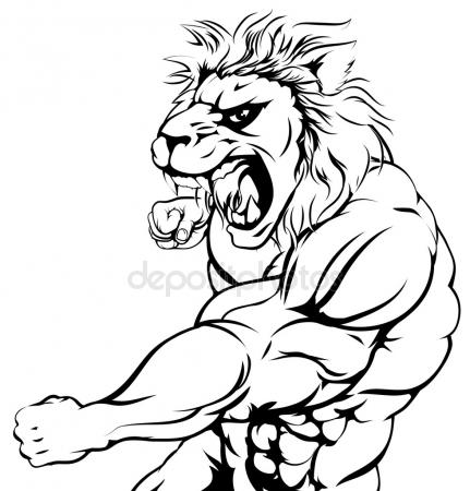 431x450 Lions Fighting Stock Vectors, Royalty Free Lions Fighting