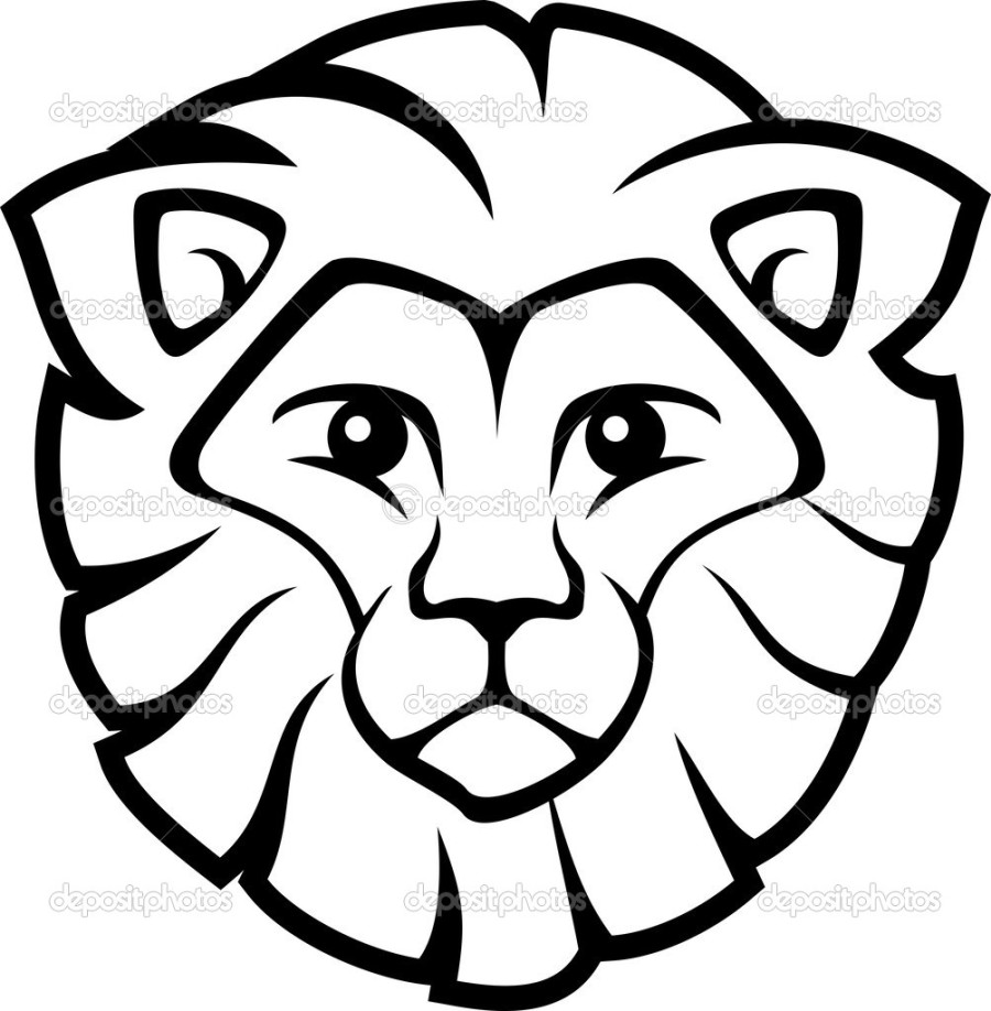 900x918 Lion Face Coloring Pages