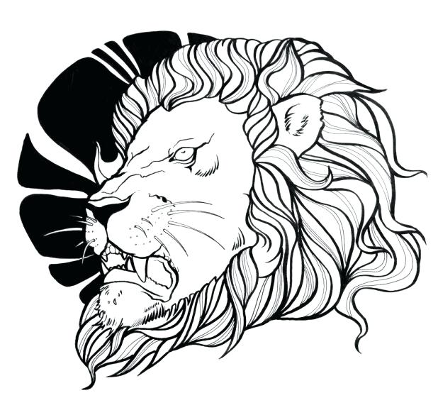 618x578 Lion Head Coloring Pages Coloring Page Lion Head Lion Face