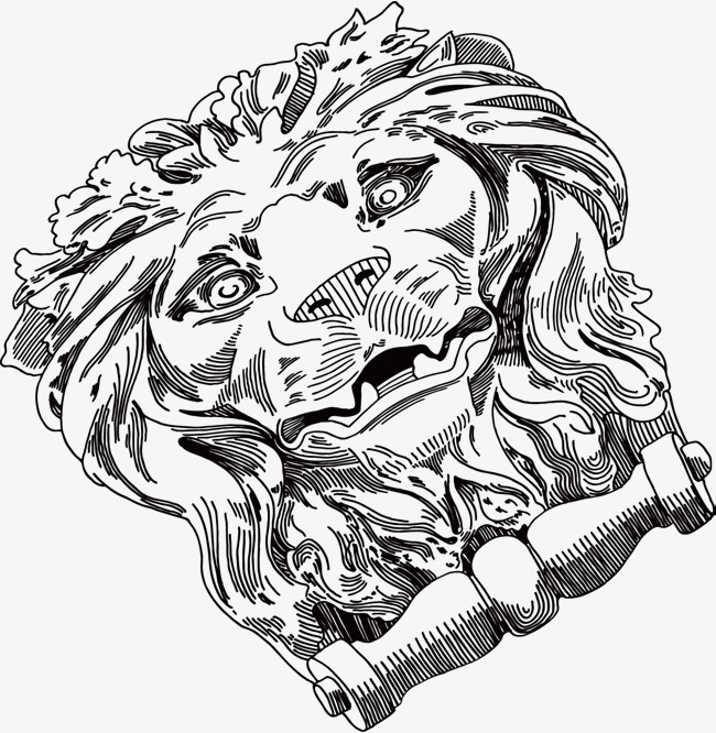 650x666 The Lion Head Is Beautifully Decorated With A Pictorial Sketch