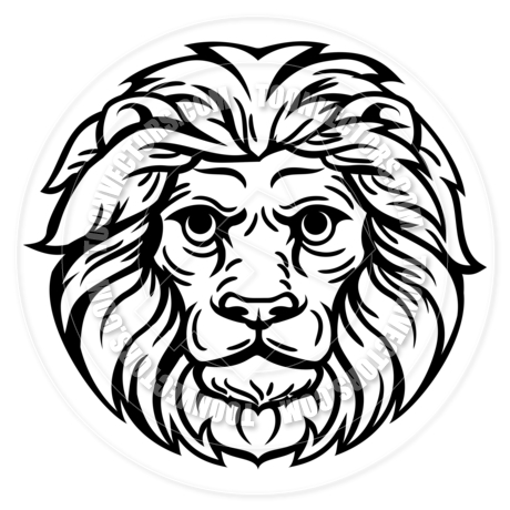 460x460 Woodcut Lion Head Concept By Geoimages Toon Vectors Eps