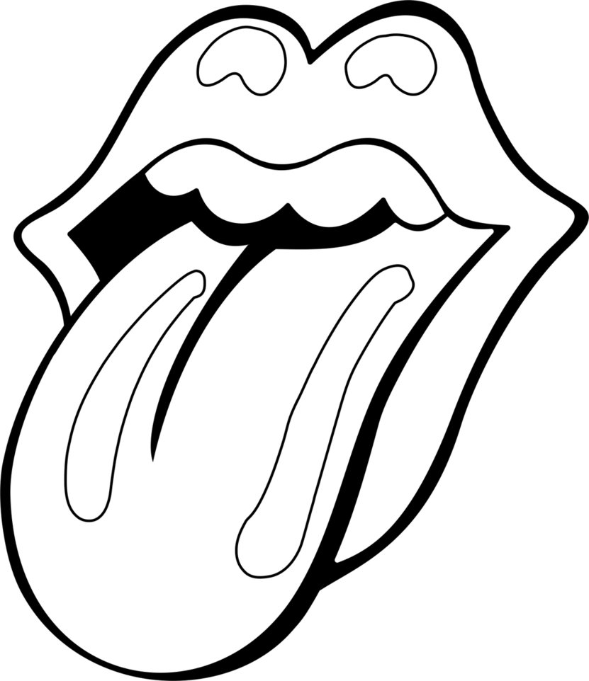 831x962 How To Draw The Rolling Stones Lips And Tongue Step 4 Art