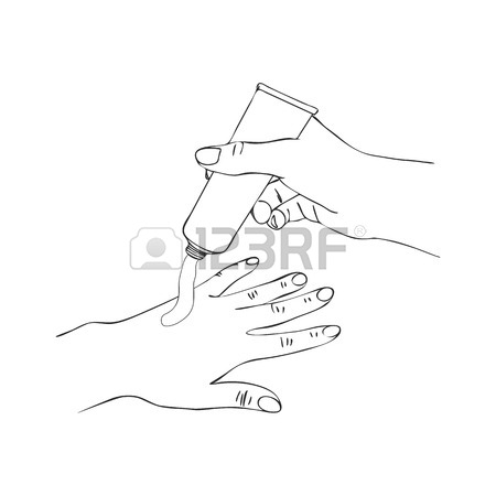 450x450 Vector Hands With Lip Gloss Tube Royalty Free Cliparts, Vectors