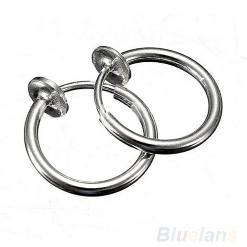 500x500 Clip On Hoop Boby Nose Lip Ear Piercing Earrings Punk Goth Septum