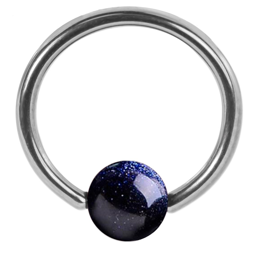 1000x1000 Midnight Blue Goldstone Captive Ring Cartilage Earring Tragus