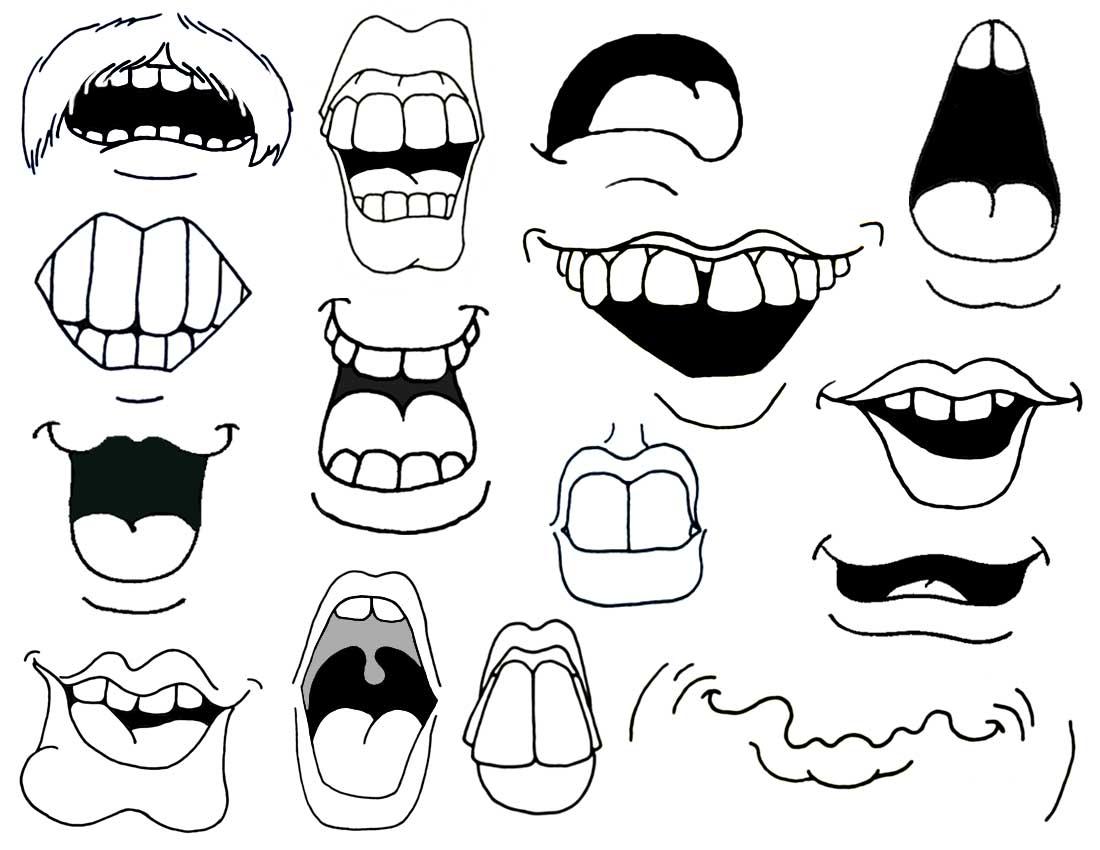 1100x850 Cartoon Mouth Drawing