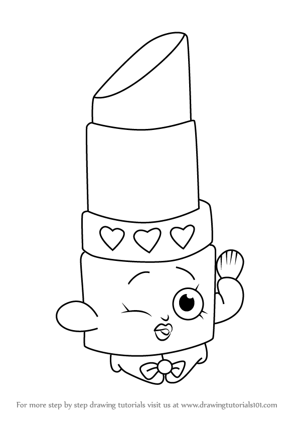 596x843 Learn How To Draw Lippy Lips From Shopkins (Shopkins) Step By Step