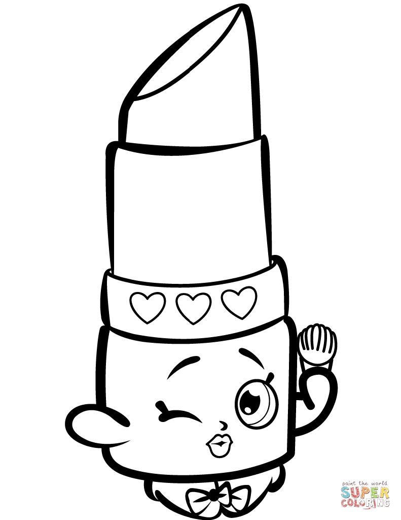 791x1024 Shopkins Coloring Pages That Is Lipy Lips Printable