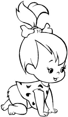 236x402 How to draw pebbles flintstone step by step How To Draw Pebbles