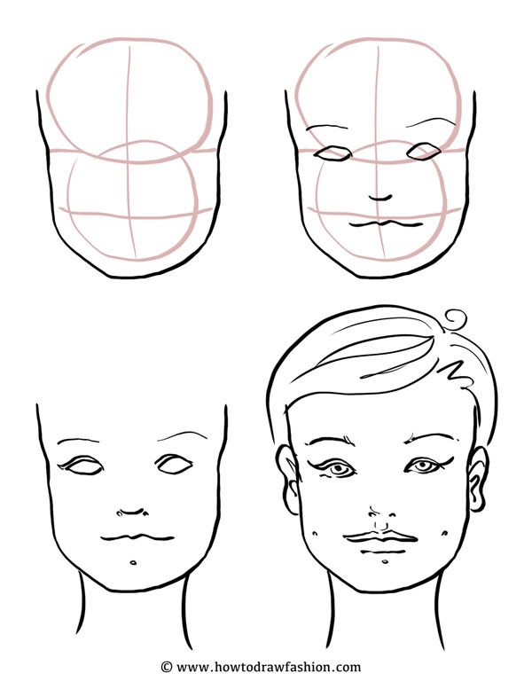 600x777 How To Draw Fashion How to Draw the Face, Eyes, Nose and Lips