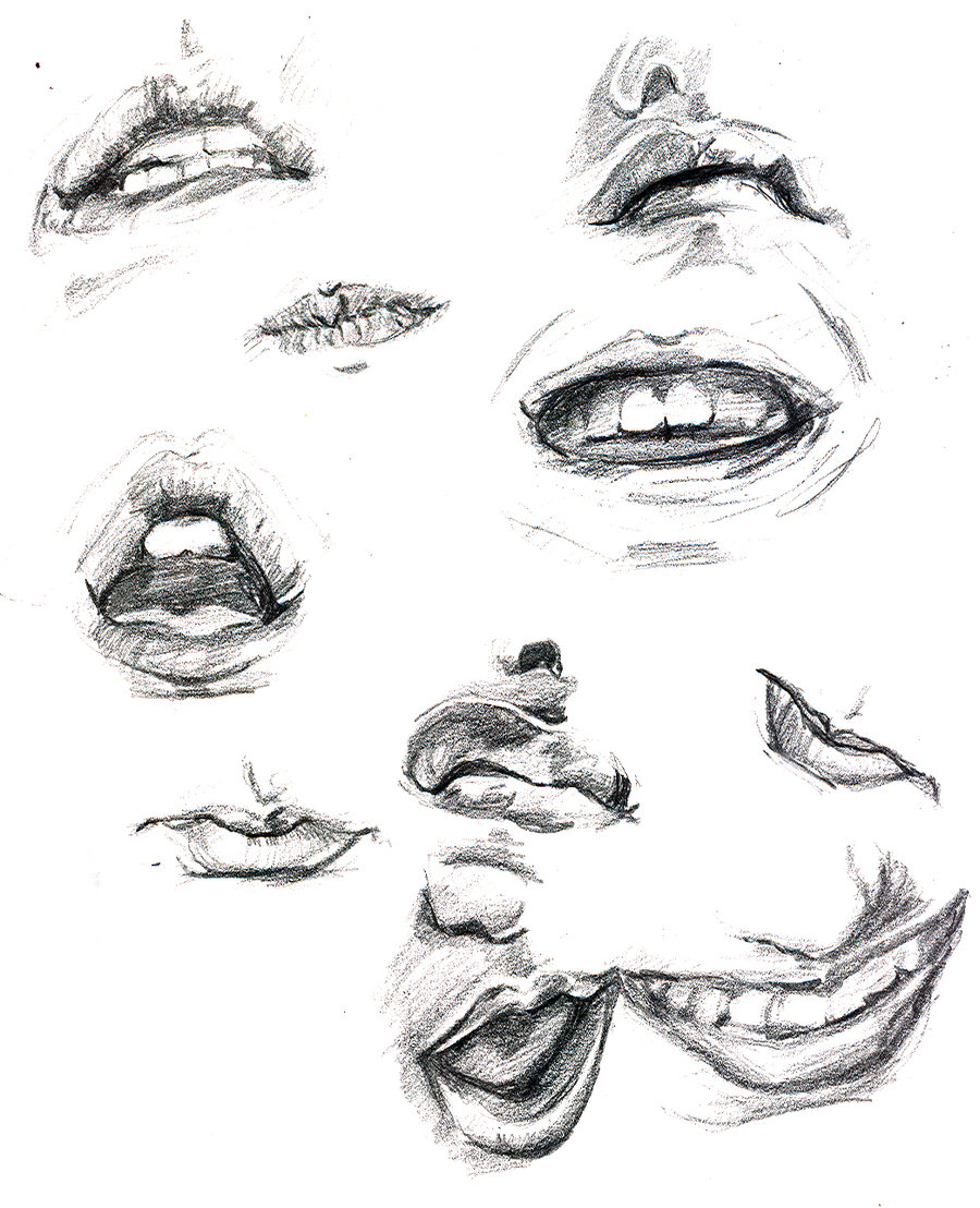 900x1108 mouth study by CBrengan on DeviantArt