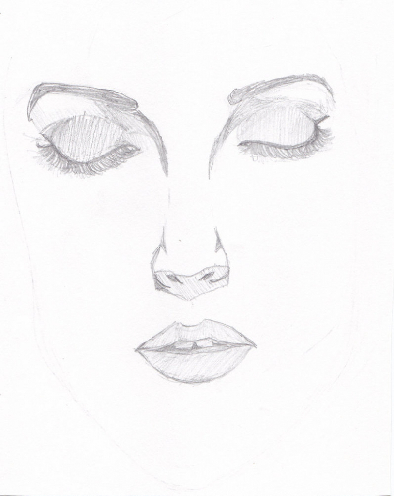 814x1024 Beutifull And Easy Sketches Lips Braid. Simple Sketch Art
