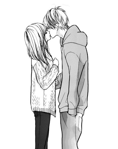 500x635 Black An White Anime Couple Animes Kawaii