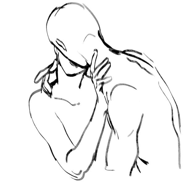 609x602 Artist Drawing Kiss