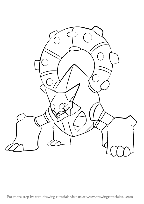 596x842 Learn How to Draw Volcanion from Pokemon (Pokemon) Step by Step