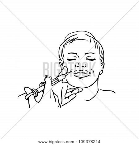 450x470 Beauty Injections. Huge Duck Lips Vector amp Photo Bigstock