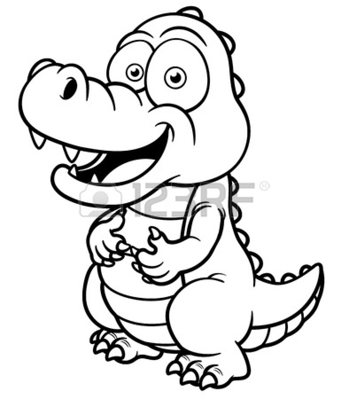 1182x1350 Crocodile Drawing Outline Clipart Panda