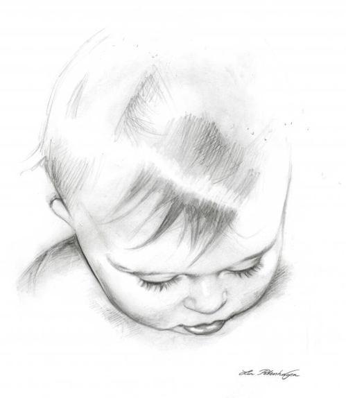 Lips Pencil Drawing