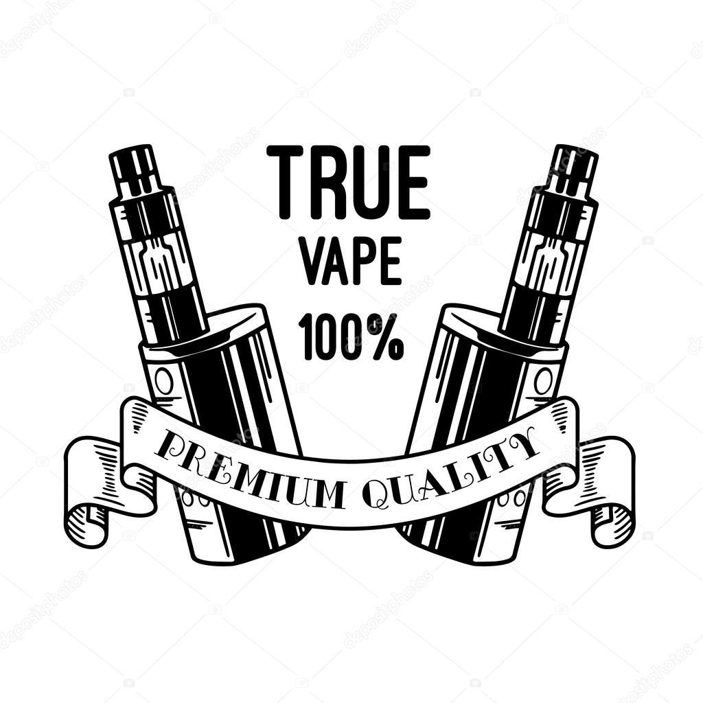 1024x1024 Electronic Cigarette And Liquid, Vape Shop Vector Monochrome