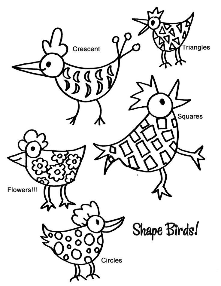 736x952 Watercolor Shape Birds For Kinder Deep Space Sparkle