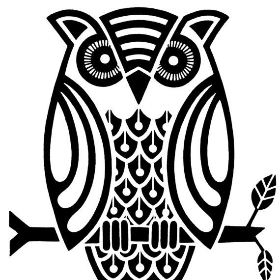 570x570 Owl From Liquid Library Zentangle Owl, Silhouettes