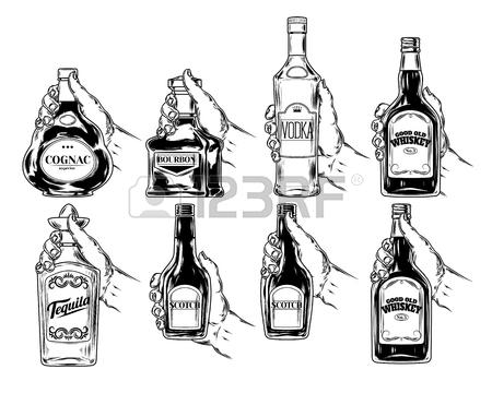 Liquor Bottle Drawing