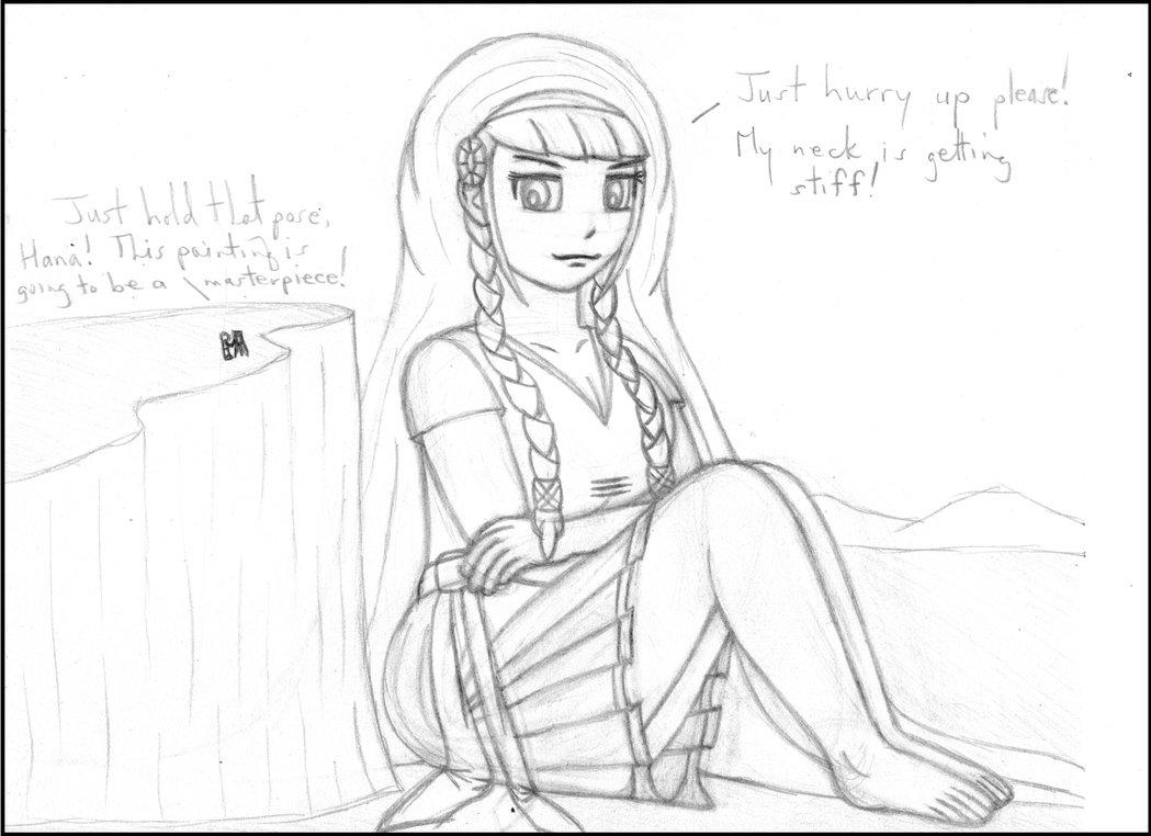 1049x762 Hana Lisa (Sketch) By Hanachronicler