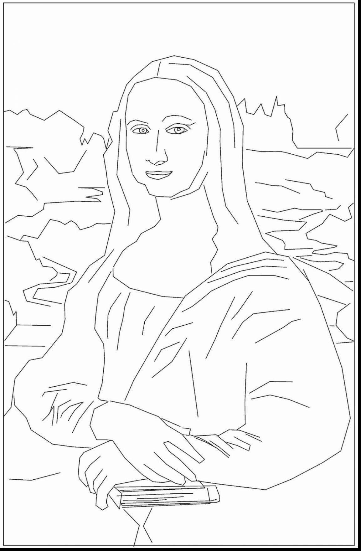 1153x1760 Beautiful Renaissance Colorings With Mona Lisa Monalisa Coloring