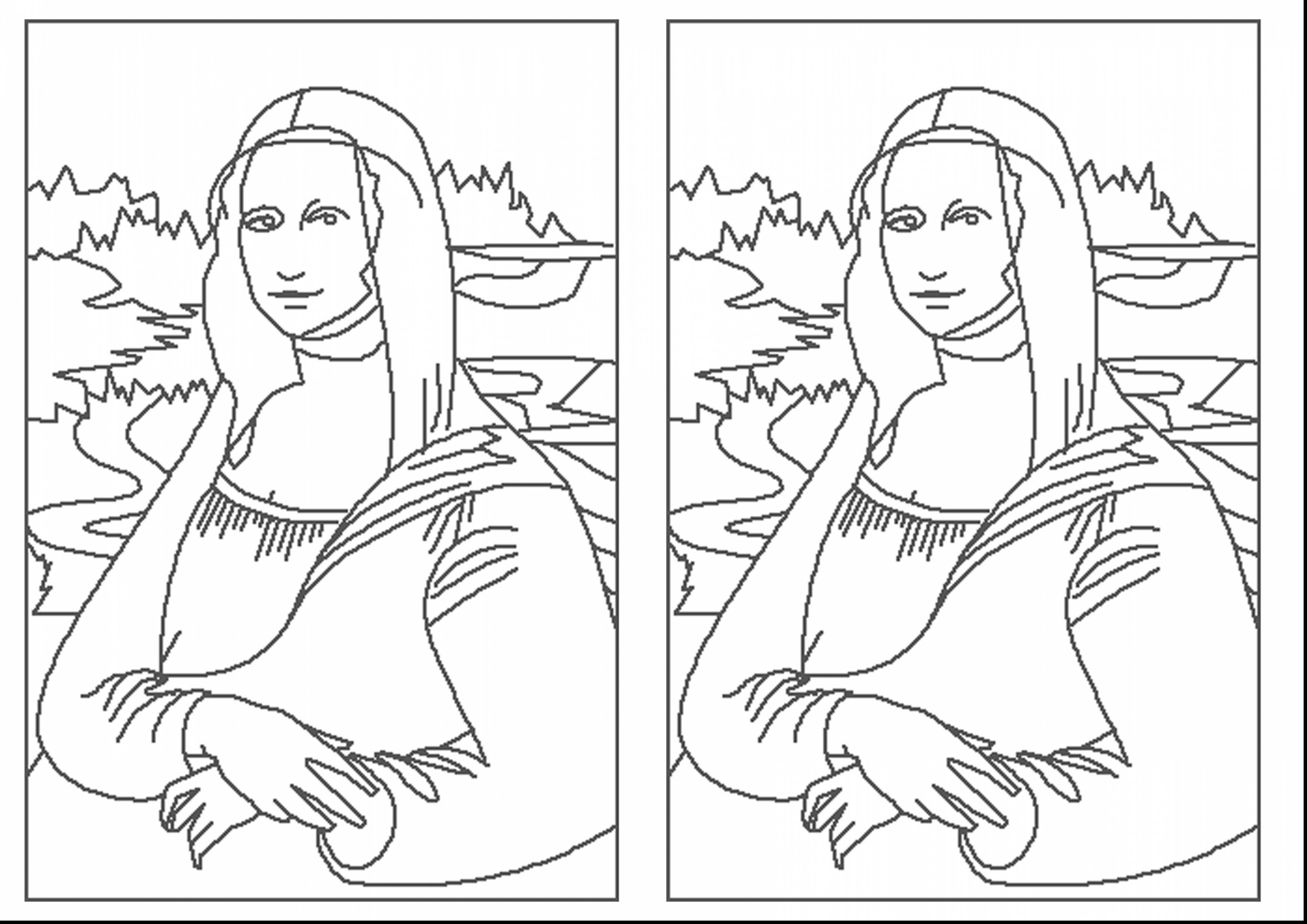 3858x2728 Mona Lisa Coloring Page La Gioconda Leonardo Vinci On Monalisa