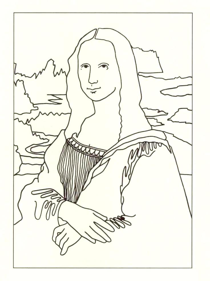 736x985 Mona Lisa Coloring Pages Excellent Coloring Page Mona Lisa