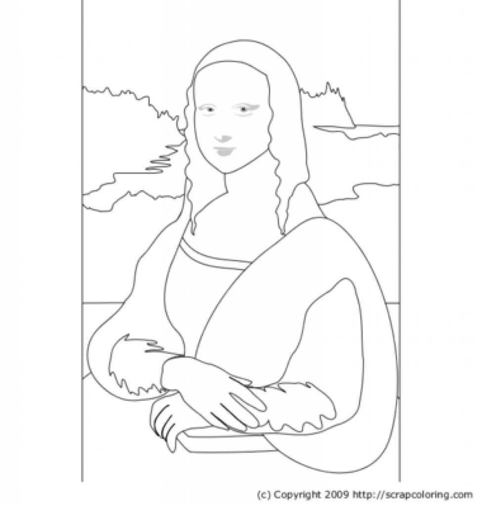 975x1024 Mona Lisa Line Drawing Awesome Mona Lisa Coloring Page 26 About
