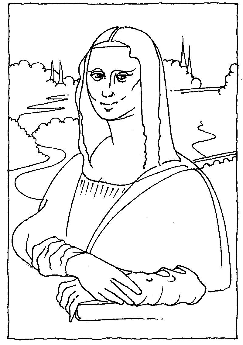 800x1135 Mona Lisa Line Drawing Lovely Mona Lisa Coloring Page 73