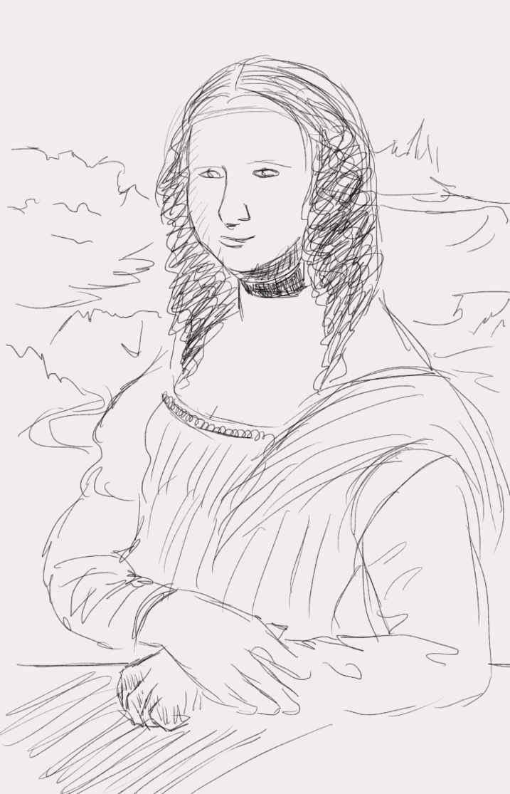 717x1115 Mona Lisa Sketch By Amaranthblossom