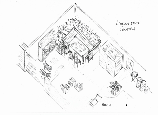 640x468 From The Drawing Board Concept Design For A Courtyard Garden