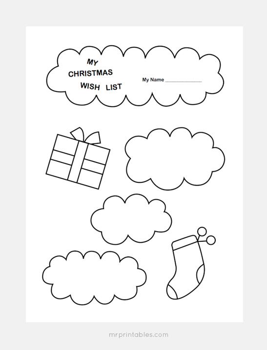 547x718 Christmas Wish List Templates