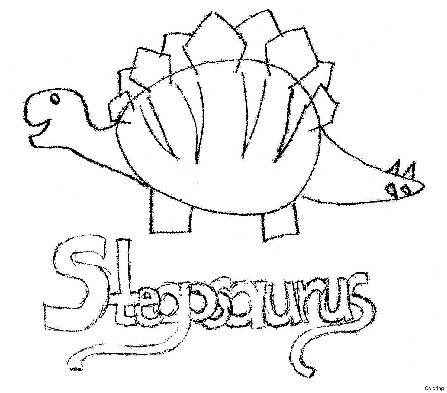 1480x1300 How To Draw A Stegosaurus Coloring Http Dinosaurworld Xyz Wp