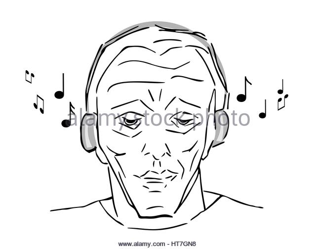 640x503 Man Hand Drawing Listening Music Stock Photos Amp Man Hand Drawing