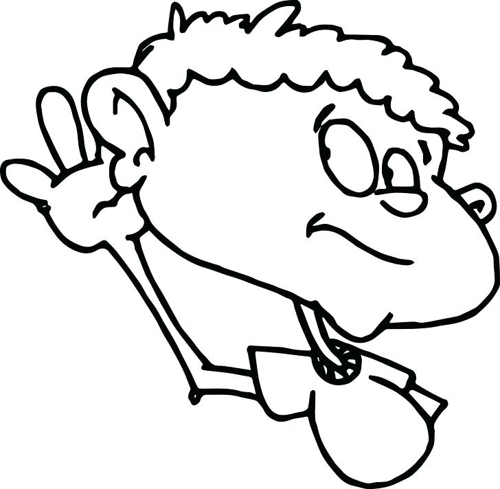 728x712 Ear Coloring Page Child Ear Sense Coloring Page Free Listening