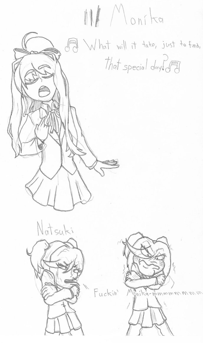 688x1162 Fan Art] Doki Doki Literature Club By Xxzackattack27xx