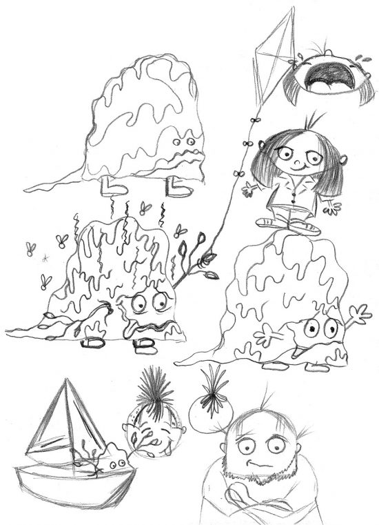 550x761 Let Me Keep My Monster Spud Picture Book Early Drawings