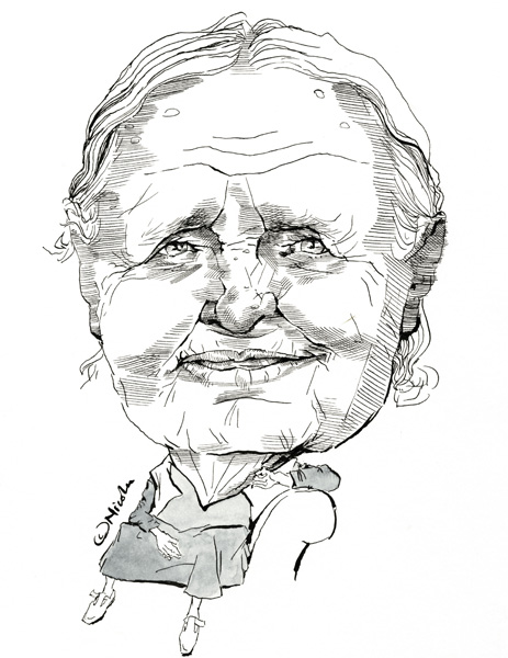 463x600 Doris Lessing Caricatures
