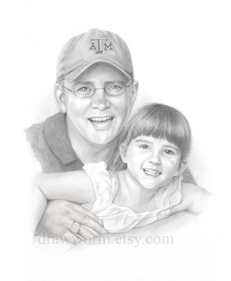 800x975 Drawworm Is Drawing Still Daddy's Little Girl Portrait