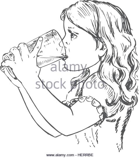 479x540 Girl Drawing Face Black And White Stock Photos Amp Images