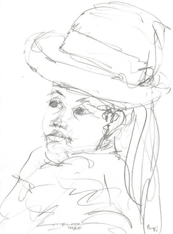 554x750 Little Black Church Girl (Mississippi Artist Larry Moore)