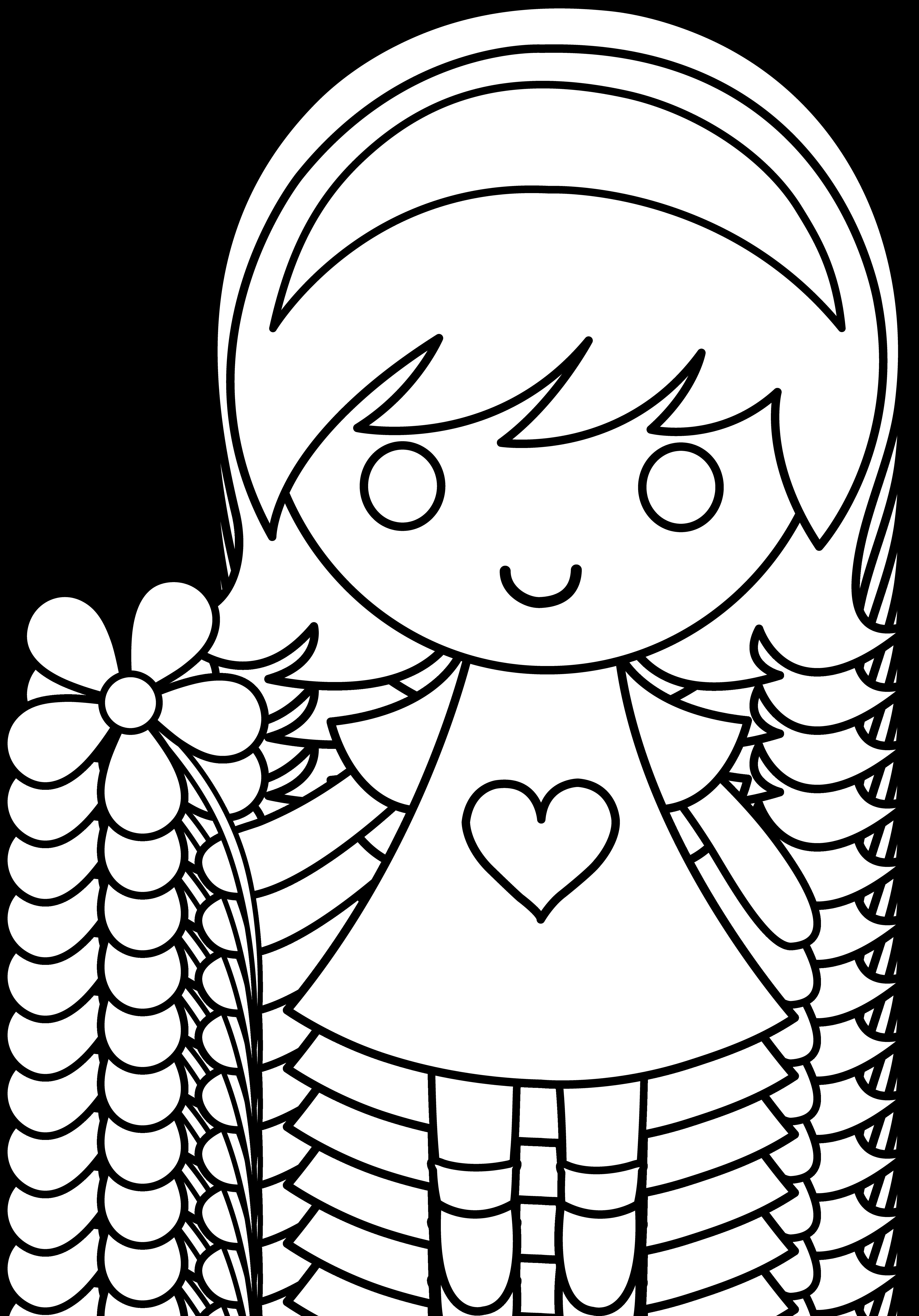 4536x6495 Little Girl Drawing Clip Art