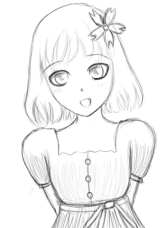 576x792 Little Girl Drawing Wip By Midnightmiku