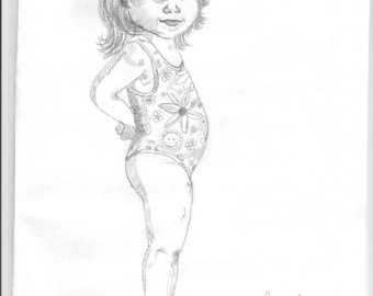 340x270 Little Girl Drawing Etsy